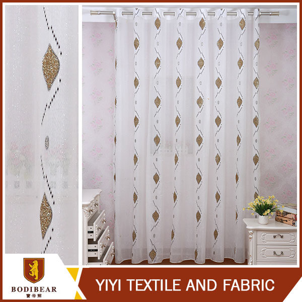 High quality Ready made jacquard design polyester door curtain