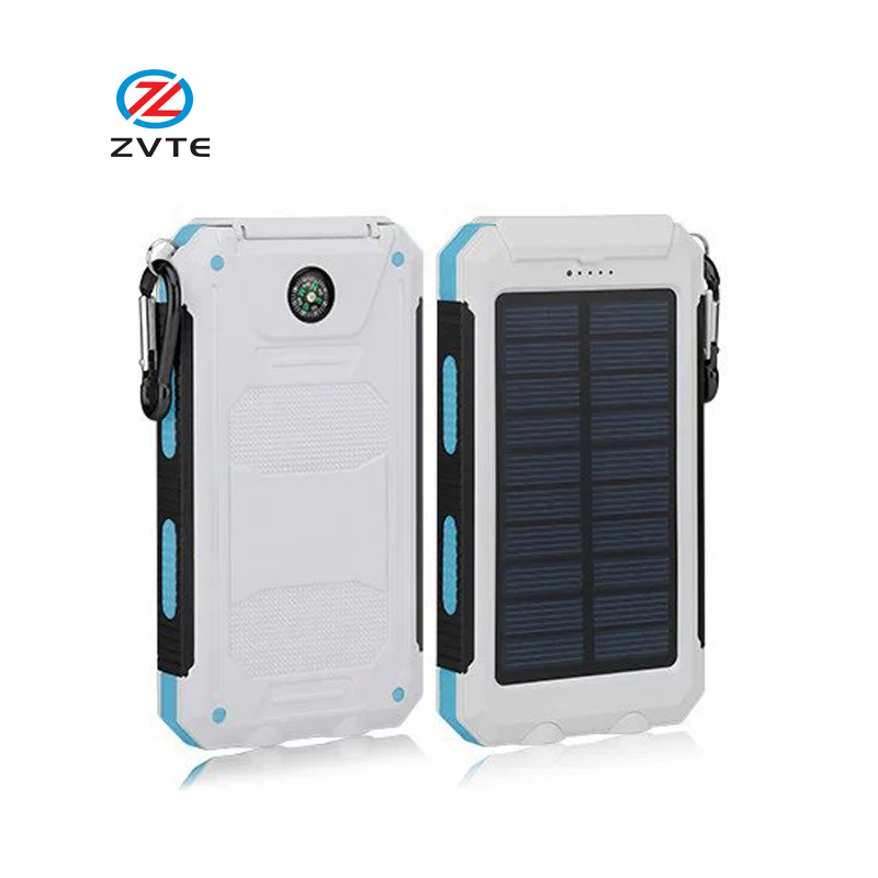 8000mAh Solar Power Bank Portable Mobile Backup Charger External Battery Pack for mobile phone laptop