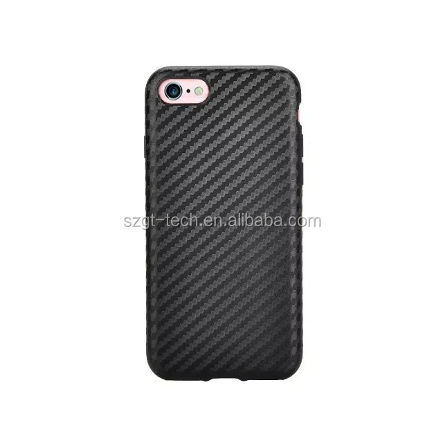2017 new products carbon fiber case for iPhone 7,for iPhone 7plus case leather for iPhone 7 case tpu