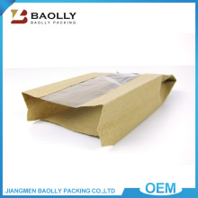 Alibaba kraft paper bag manufacturers food packaging grade brown paper bag with window