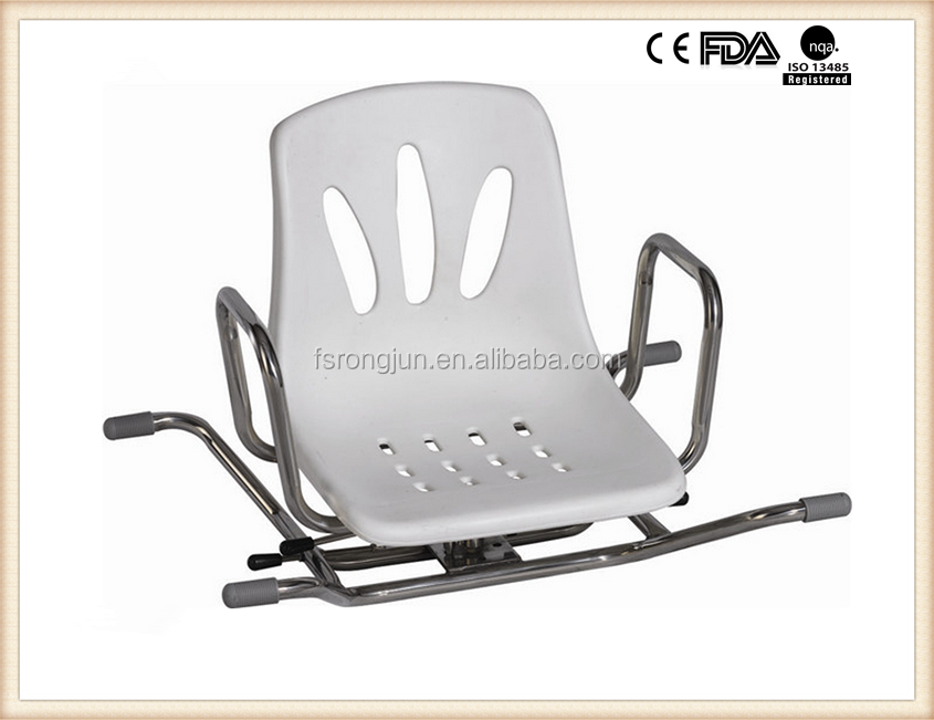 Stainless steel swivel shower chair for handicapped and elder RJ-X793S