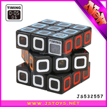 2017 new style funny plastic timing puzzle cube for sale