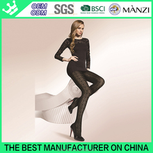 MANZI manufactory 20 years professional OEM 200D hollow pantyhose thick Shift ring pantyhose black sexy pantyhose for women