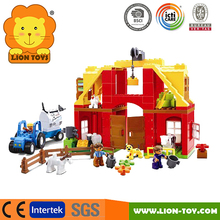 Farm & Animals Large plastic toy bricks compatible with Duplo blocks Doll house