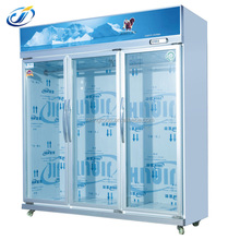 3 sliding glass door Static Cooling Meat and fish Display Chiller/Freezer /Cabinet/refrigerated glass door (LS-1098GR)