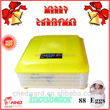 HHD portable mini incubator for 88 chicken/chick master eggs hatching with heating element for sale