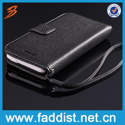 Card holder wallet smart pu leather phone case for iphone 5c