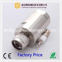 1 to6 push lock type F male female electrical waterproof cable connector with 2 pin