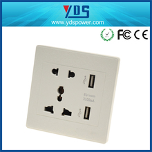 Alibaba supplier 2016 innovative product usb wall outlet 5v 2.1a usb outlet universal wall mounted power outlet socket 220v 13a