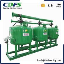Automatic backwash quartz sand filter for river water
