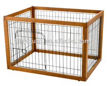 Pets Furniture Wooden Pet Pen / Dog Run Kennel