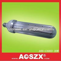 Patented Product AOSZX 3000lm Replace CFL High Bay Post Lamp E27 E40 SMD 3014 12V/24V 30W E27 High Bay LED Light Bulb