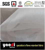 Best sale chinese fire retardant organza fabric for curtain for sale