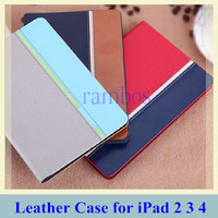 Fashion Smart Case Stand Tablet Flip Design Leather Cover for iPad 2 3 4