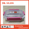 2016 Rectangular Microwave Safe Glass Food Container/Multipurpose Glass Food Storage Box With Removable Lid