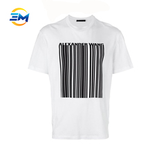 Newest stripe fashion design printing t-shirt plain mens