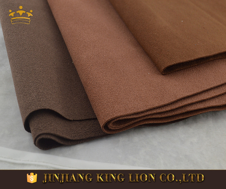 0.6mm Automotive interior upholstery microfiber suede leather