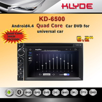 "Factory 6.2"" HD touch screen car DVD GPS universal KD-6500 with CE and ROHS certificates"