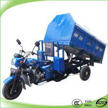 200CC water cooled 3 wheel dump truck cleaning tricycle