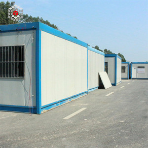 Custom 20ft mobile home flat top prefabricated container house with office containers turkey