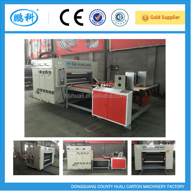 HUALI HL-L alibaba hot sale high speed semi auto printing slotter die cutter machine/corrugated cardboard paper packaging carton