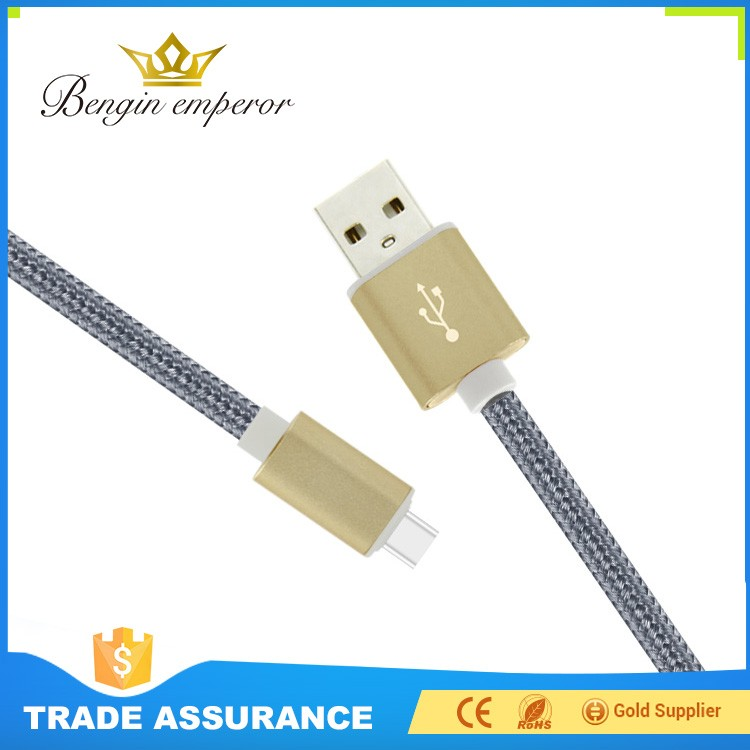 High Spped Charging Overcharge protections type c nylon braided micro usb cable
