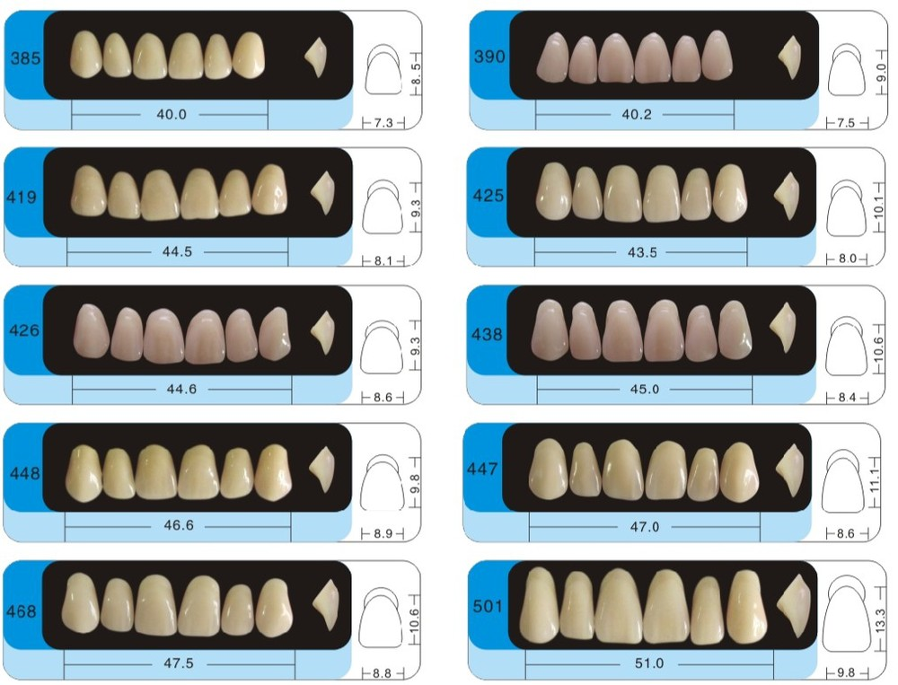 Dental Super Hard Acrylic Denture Resin Teeth with CE and ISO certification