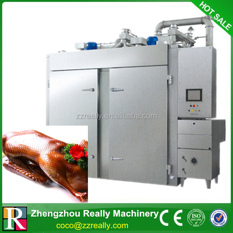 Hot sale automatic meat smoking equipment for smoked meat,fish,chicken,duck,bacon,salami,pork,sausage food