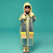 customised high quality kid plastic clear rain coat children raincoat