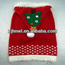 Cute christmas cashmere dog sweaters with hoodie