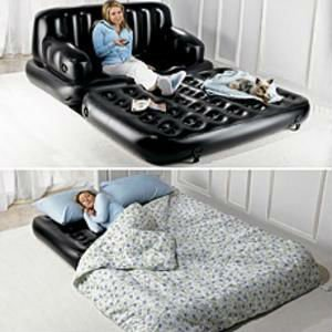 Multifunctional 5 in 1 inflatable sofa bed , sex sofa chair