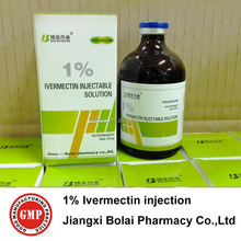 Bolai poultry pharmaceutical Ivermectin injection 1% 100ml/glass bottle