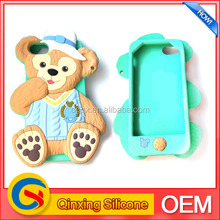 lovely small bear shape protective silicone cellphone case for iphone 5 5s