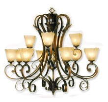 Color Glass Incandescent Light Fixture Chandelier