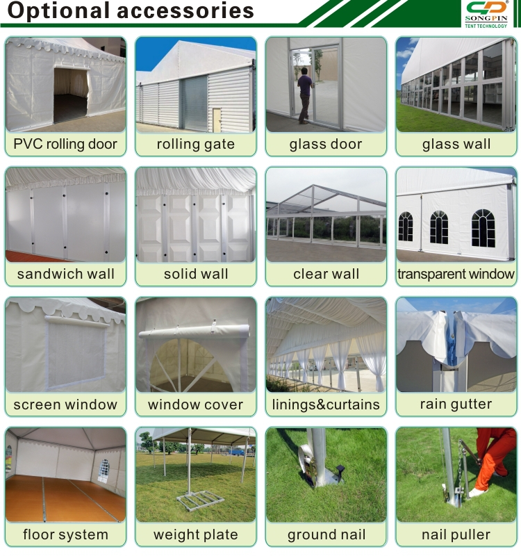 25x25m wedding party tent manufactured by guangzhou songpin tent supplier