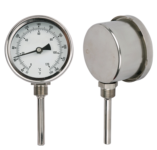 Hot Water Dial : Bimetal hot water dial thermo long probe industrial
