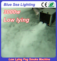Professional dmx remote 3000w low water fog machine