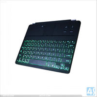 2013 New product Aluminum Alloy Bluetooth keyboard with backlit for New iPad 2/3/4--P-BLUETOOTHKB028