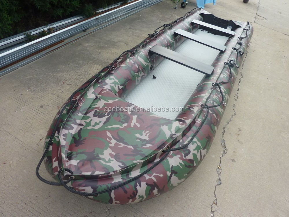 3 person inflatable fishing kayak PVC pontoon AK-430 from Weihai Aceboats!