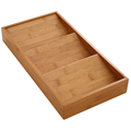 Classic Bamboo 3-Tier Spice Rack Cabinet Drawer Tray Organizer