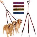 3 way Coupler Triple nylon pet leash with handle for walking dogs