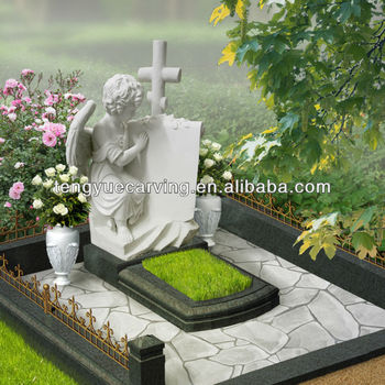 marble angel statue of Russia tombstone