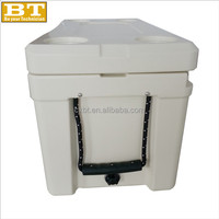 80L White Plastic Portable Mini Cooler Box Car Refrigerator
