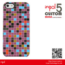 Newest Design folio design rubber finish hard cover for iphone 5