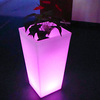 BSCI certified manufacturer smart controlled multi color changing LED flower pot/LED plant flower vase
