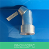Boron Carbide Ceramic Angle Nozzle With Threads/INNOVACERA