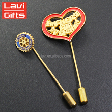 Wholesale Cheap Custom Metal Long Needle Lapel Pin