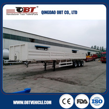 for Construction Project 3 Axles Semi Trailer with Sidewall / cargo trailer motorcycle