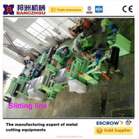 Hydraulic metal coil slitting machine line