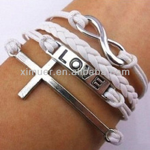 Infinity love and crosses for to make bracelets